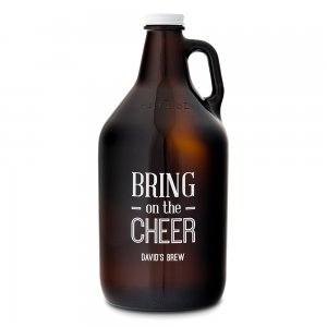 Bring on the Cheer Personalized Glass Beer Growler image