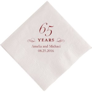 65 Years Personalized Napkins image