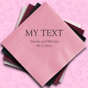 Custom Word Personalized Napkins image