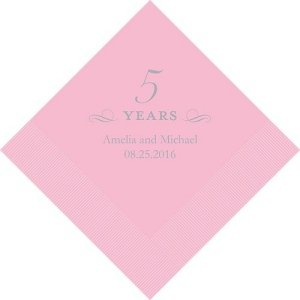 5 Years Printed Napkins image