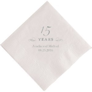 15 Years Printed Napkins image