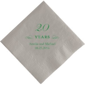 20 Years Printed Napkins image
