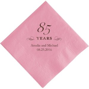 85 Years Printed Napkins image