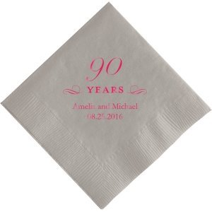 90 Years Printed Napkins image