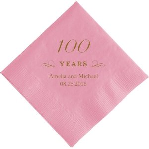 100 Years Printed Napkins image