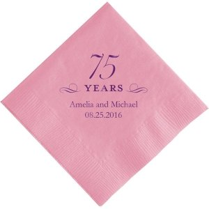 75 Years Printed Napkins image