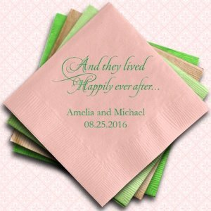 Happily Ever After Printed Napkins image