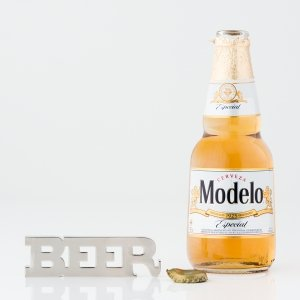 Silver BEER Opener with Magnets image