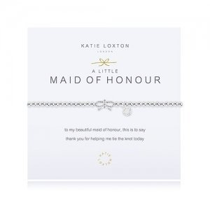 Maid of Honour Silver Bracelet with Bow image