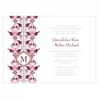 Lavish Monogram Stationery Sample (7 Colors)