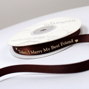Today I Marry My Best Friend Ribbon (4 Sizes-31 Colors) image