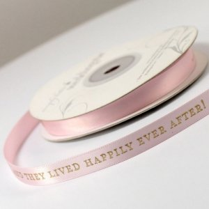 And They Lived Happily Ever After Ribbon (4 sizes-31 Colors) image