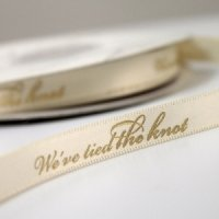 We've Tied The Knot Wedding Ribbon (4 Sizes - 31 Colors)