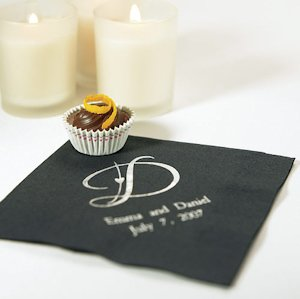Decorative Initial Monogram Napkins for Weddings image