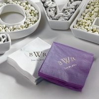 Monogrammed Wedding Napkins (Custom Imprint)