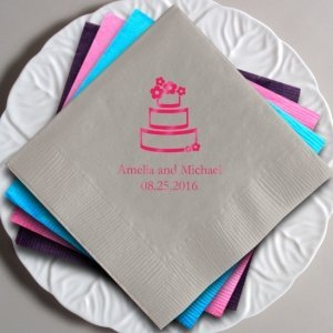 Personalized Wedding Cake Napkins