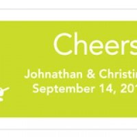 Personalized Small Martini Wedding Drink Tickets