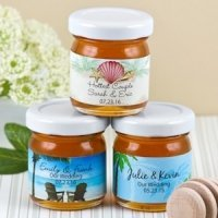 Personalized Mini Beach Theme Honey Favors for Weddings