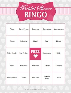 FREE Bridal Shower Bingo Game image