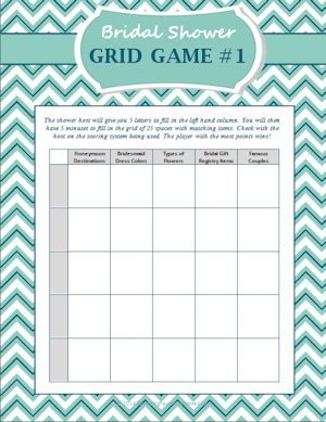 FREE Bridal Shower Grid Game image