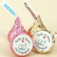 Hershey Kiss Chocolate Bridal Shower Favors