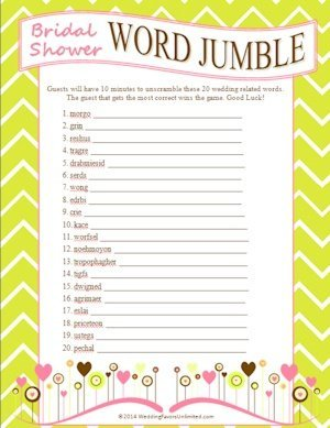Free bridal shower word jumble game free bridal shower word jumble game image publicscrutiny Choice Image