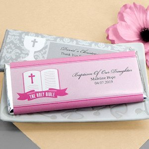 Personalized Candy Bar Favors for First Communions image