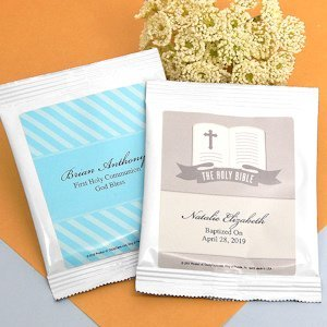 Personalized Hot Chocolate Communion Favors image