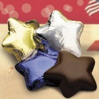 Dark Chocolate Stars (Set of 34 - 4 Color Options)