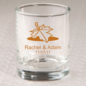 Personalized Autumn Shot Glass or Votive Holder image