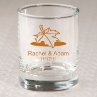 Personalized Autumn Shot Glass or Votive Holder