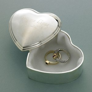 Personalized Heart Trinket Box image