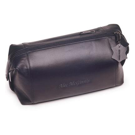 a0927d73718c Mens Personalized Leather Toiletry Bag image. One Size Shown