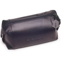 Mens Personalized Leather Toiletry Bag