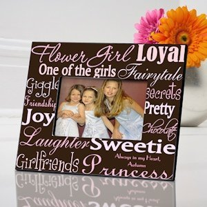 Personalized Flower Girl Frame (7 color choices) image