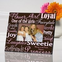 Personalized Flower Girl Frame (7 color choices)