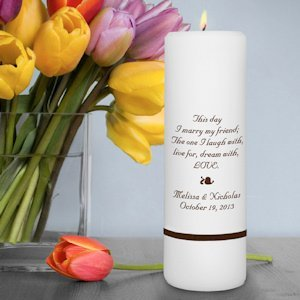 Single Personalized Unity Candles (Many Designs) image