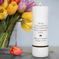 Single Personalized Unity Candles (Many Designs)