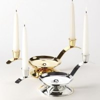 Silver or Gold Unity Candle Holder with Tapers