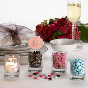 Favor Lights Personalized Votive Candle Wedding Favors image