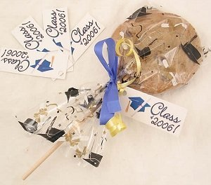 Personalized Graduation Cookie Pop Favor image