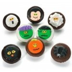 Chocolate Dipped Halloween Oreos