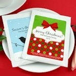 Personalized Holiday Cocoa Favors (24 Designs)