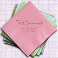 Personalized First Communion Paper Napkins (Set of 100)