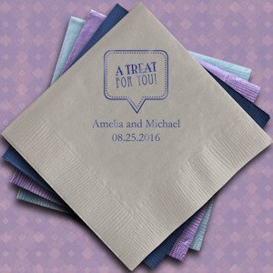 A Treat for You Printed Wedding Napkins (Set of 100) image