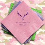 LOVE Antlers Personalized Wedding Napkins (Set of 100)