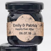 Oatmeal Stout Beer Jelly Wedding Favors