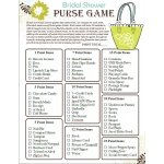FREE Bridal Shower Purse Game