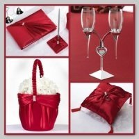 Red Sash Wedding Accessory Collection