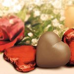 Chocolate Hearts in Red Foil (Case of 50)